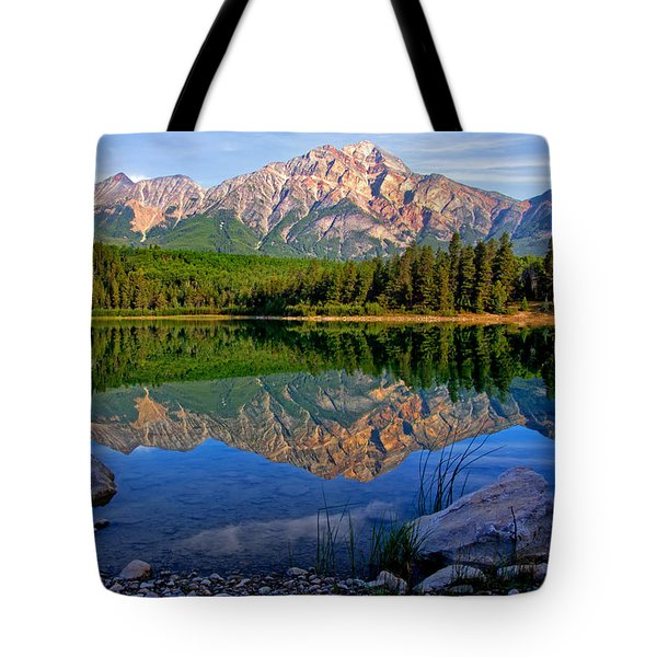 Morning At Pyramid Lake Tote Bag