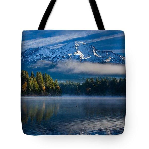 Morning At Siskiyou Lake Tote Bag