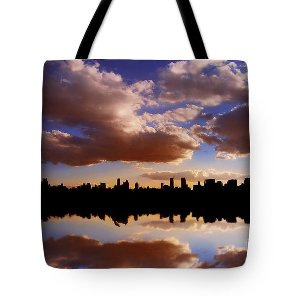 Morning At The Reservoir New York City Usa Tote Bag by Sabine Jacobs