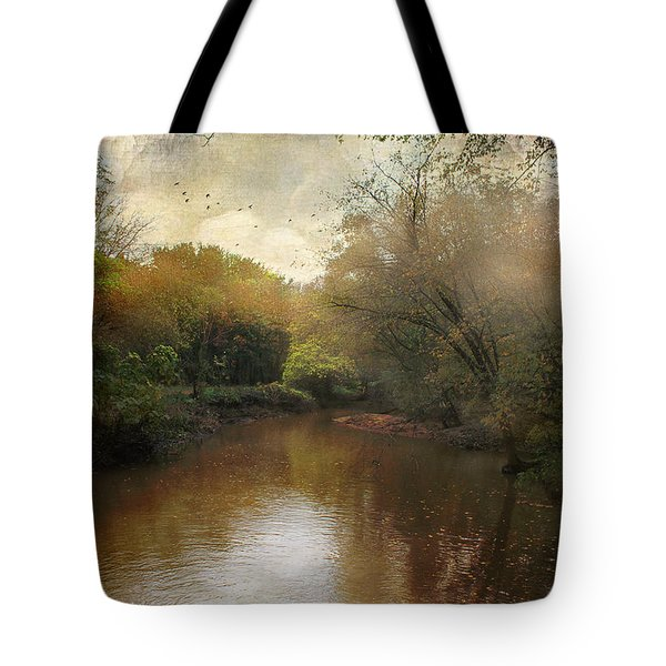 Tote Bag featuring the photograph Morning At The River by John Rivera