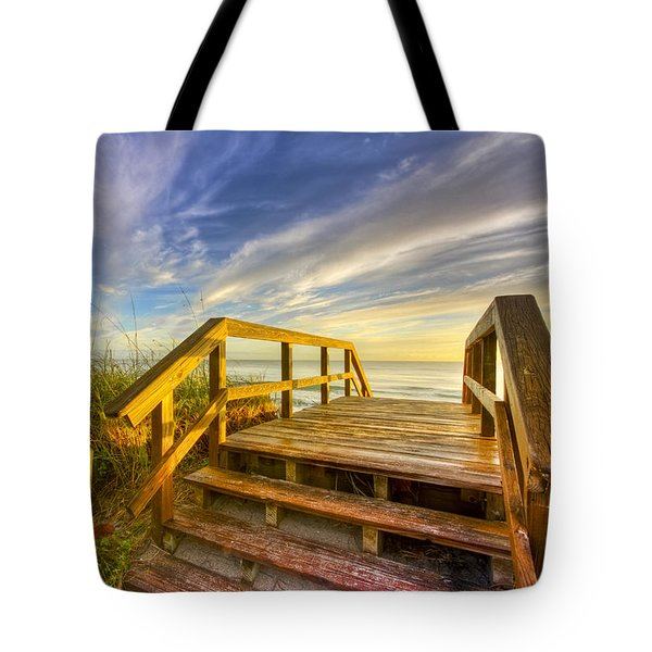 Morning Beach Walk Tote Bag