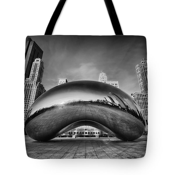 Morning Bean In Black And White Tote Bag