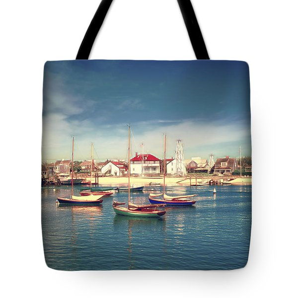 Morning Boats Nantucket Tote Bag