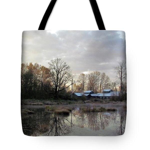 Tote Bag featuring the photograph Morning Breaking by I'ina Van Lawick