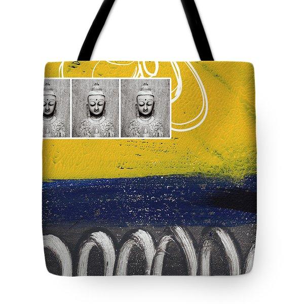 Morning Buddha Tote Bag by Linda Woods
