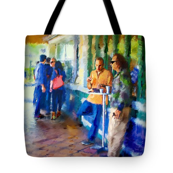 Morning Cafe Con Leche Break Tote Bag by Ted Azriel