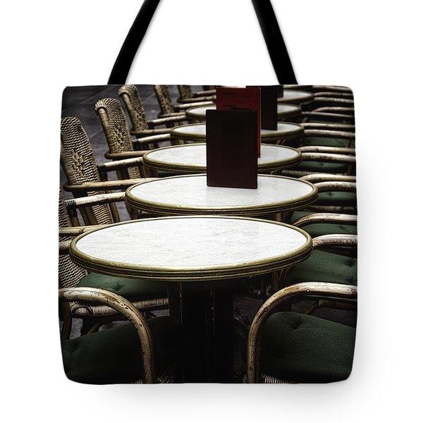 Morning Cafe Tote Bag