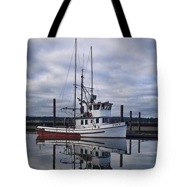 Morning Calm Newport Oregon Square Version Tote Bag