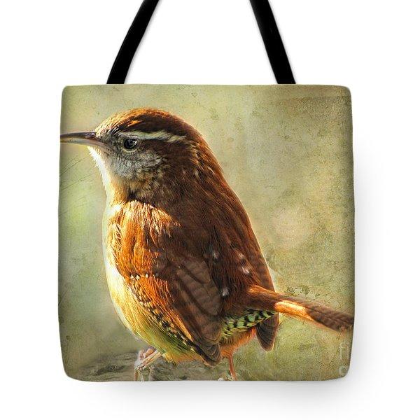 Morning Carolina Wren Tote Bag