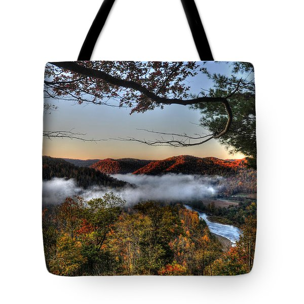 Morning Cheat River Valley Tote Bag by Dan Friend