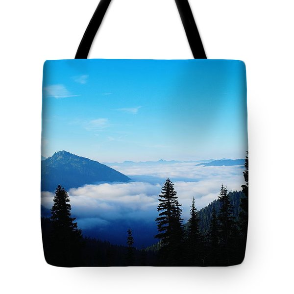 Morning Clouds In The Valley  Tote Bag