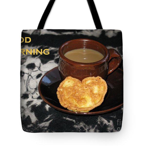 Morning Coffee Served With Love Tote Bag by Ausra Huntington nee Paulauskaite