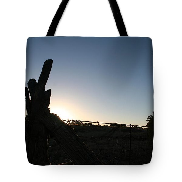 Tote Bag featuring the pyrography Morning by David S Reynolds