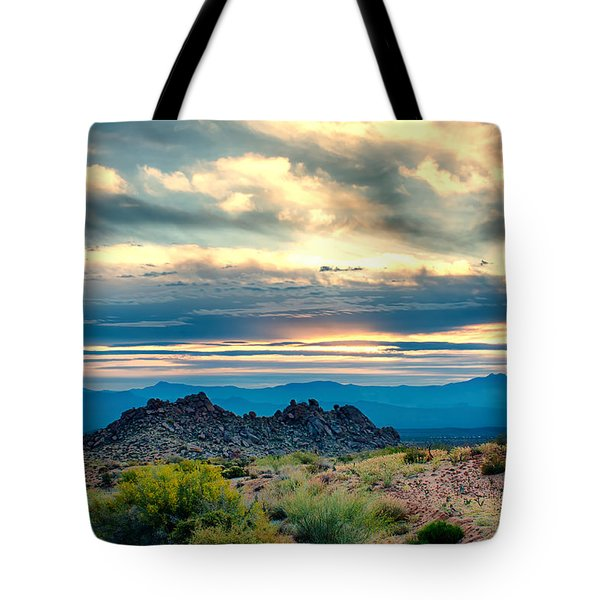 Morning Desert Glow Tote Bag