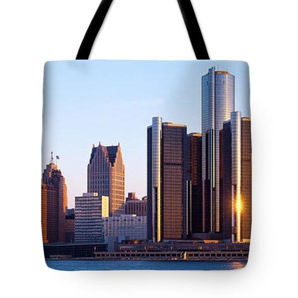 Morning, Detroit, Michigan, Usa Tote Bag