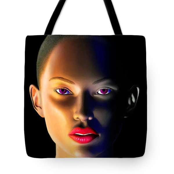 Tote Bag featuring the digital art Morning Dew by Anthony Mwangi