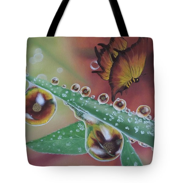 Morning Dew Tote Bag by Dianna Lewis