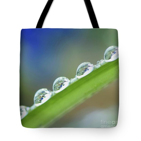 Morning Dew Drops Tote Bag by Heiko Koehrer-Wagner