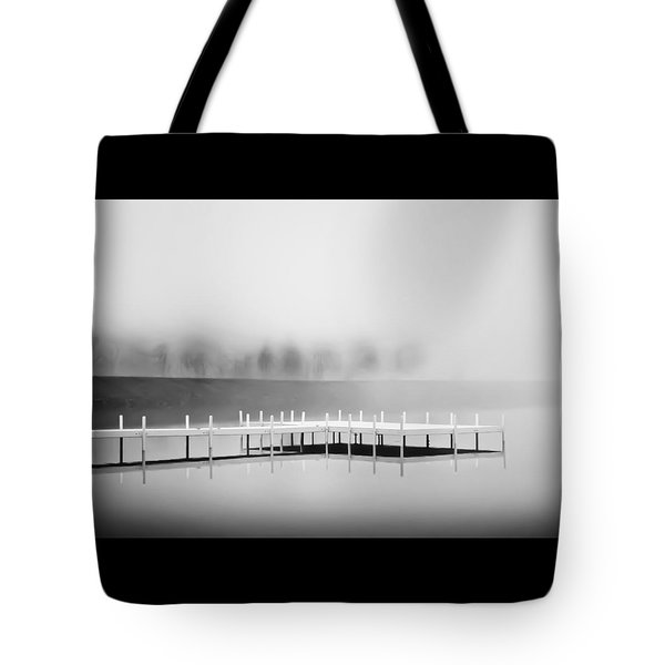 Tote Bag featuring the photograph Morning Fog Burn-off by Greg Jackson
