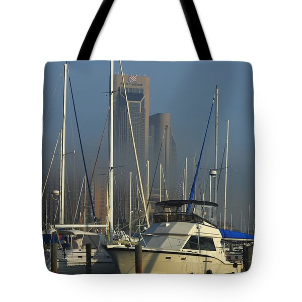 Morning Fog Ll Tote Bag by Leticia Latocki