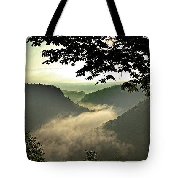 Morning Fog Tote Bag by Richard Engelbrecht