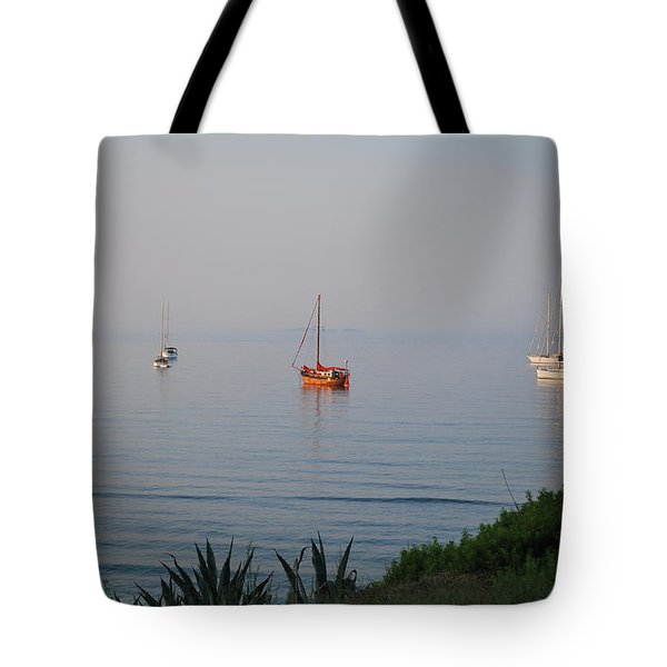 Tote Bag featuring the photograph Morning by George Katechis