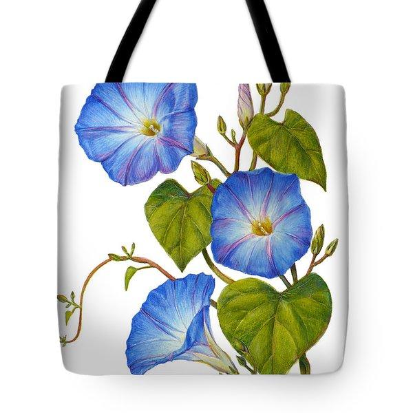 Morning Glories - Ipomoea Tricolor Heavenly Blue Tote Bag