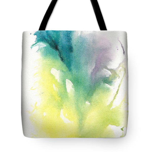 Tote Bag featuring the painting Morning Glory Abstract by Frank Bright