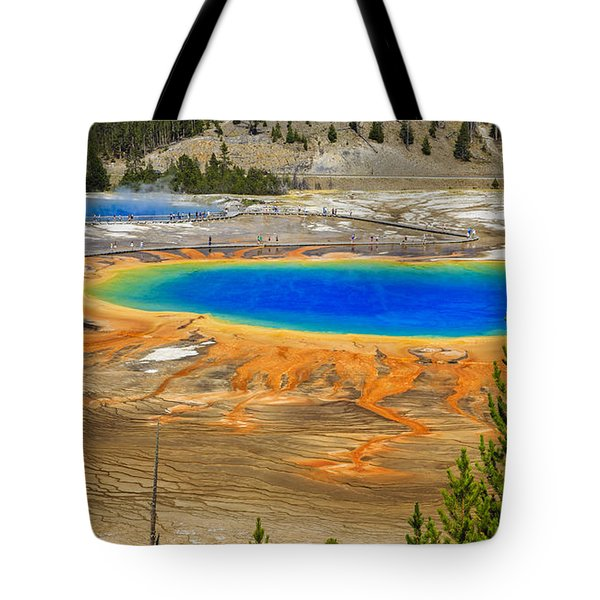 Grand Prismatic Geyser Yellowstone National Park Tote Bag by Edward Fielding