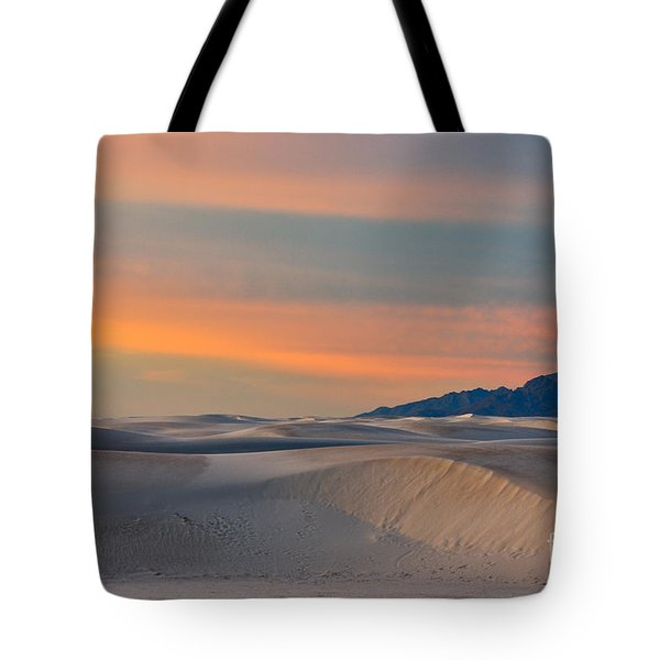 Morning Glory In White Sands Tote Bag by Sandra Bronstein