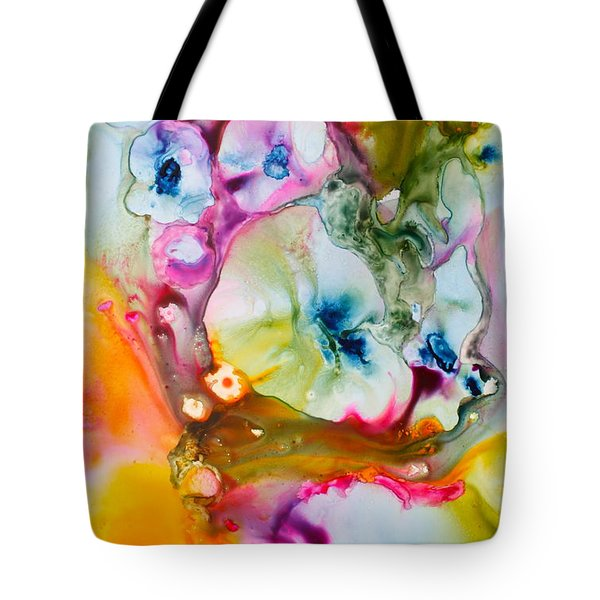 Morning Glory Tote Bag by Nancy Jolley