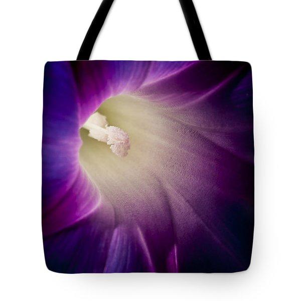 Morning Glory Purple Tote Bag