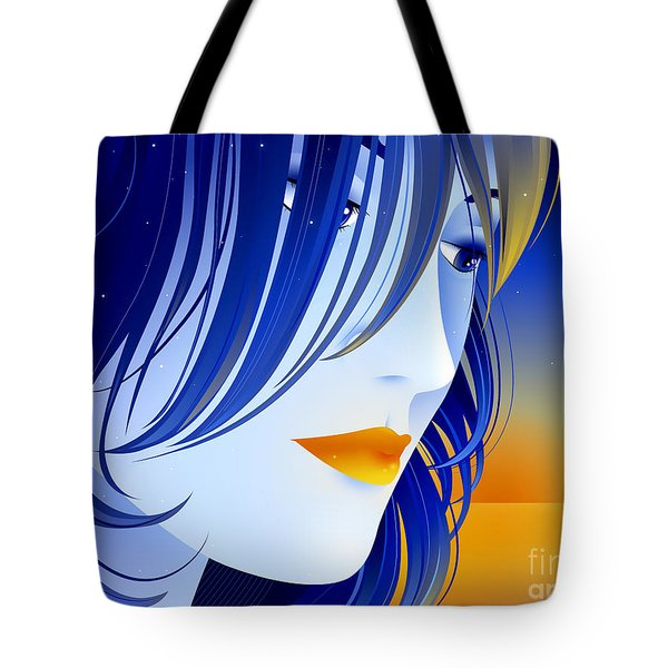 Morning Glory Tote Bag by Sandra Hoefer