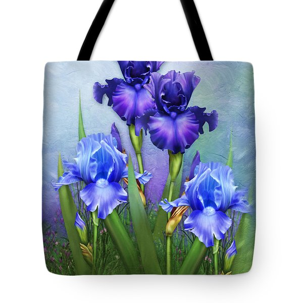 Tote Bag featuring the mixed media Morning Glory by Isabella Howard