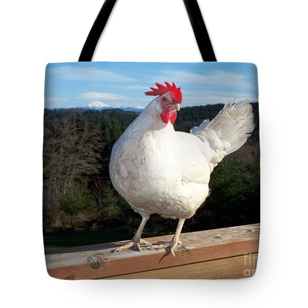 Morning Greeting Tote Bag by Chalet Roome-Rigdon