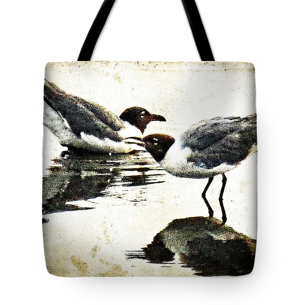 Morning Gulls - Seagull Art By Sharon Cummings Tote Bag by Sharon Cummings