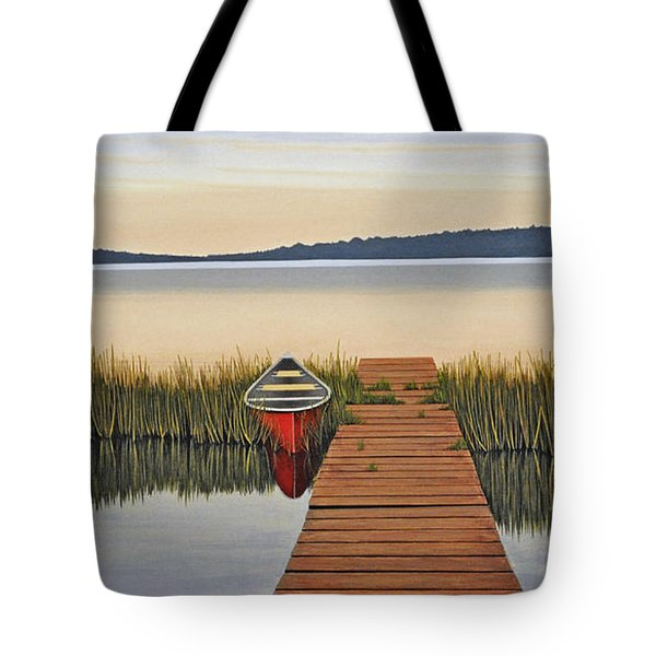 Tote Bag featuring the painting Morning Has Broken by Kenneth M  Kirsch