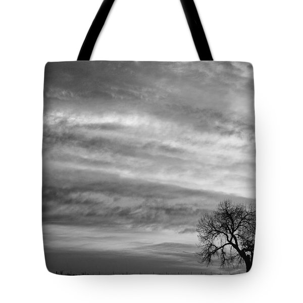 Morning Has Broken Like The First Dawning Landscape Bw Tote Bag by James BO  Insogna