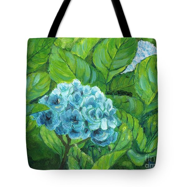 Tote Bag featuring the painting Morning Hydrangea by Jingfen Hwu