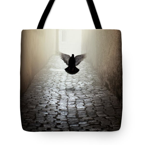 Morning Impression With A Dove Tote Bag