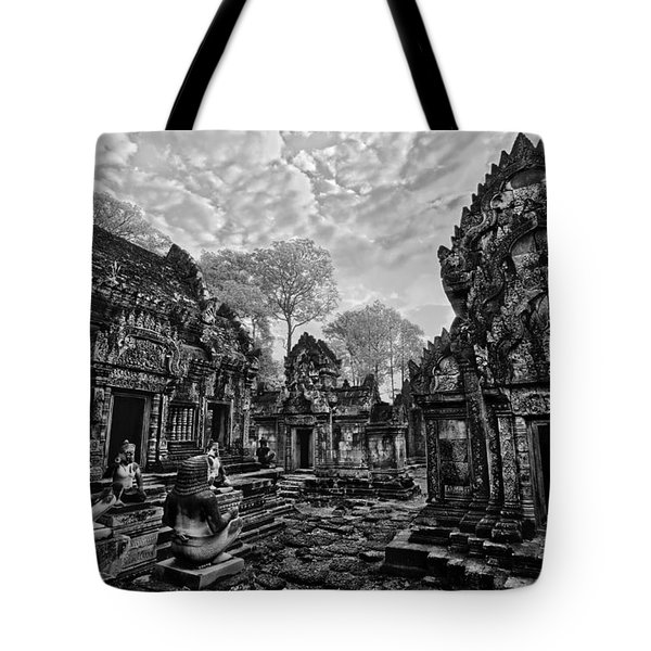 Morning In Black And White Tote Bag
