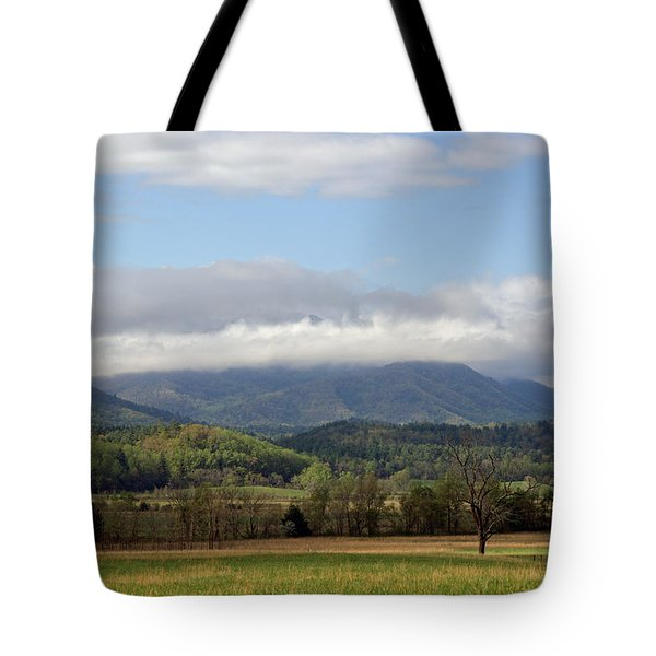 Morning In Cades Cove Tote Bag by Roger Potts
