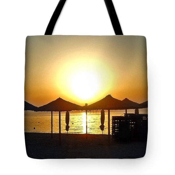 Morning In Greece Tote Bag by Nina Ficur Feenan