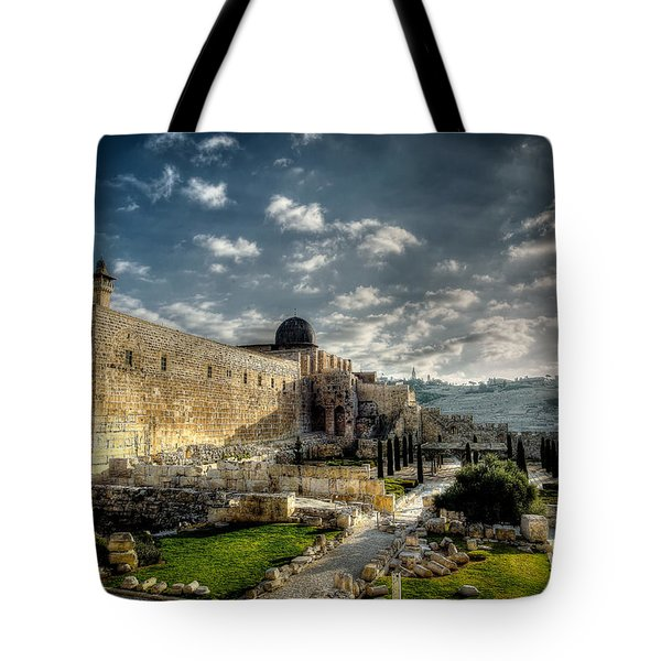 Morning In Jerusalem Hdr Tote Bag