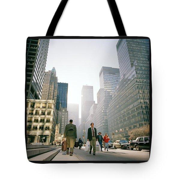 Morning In Manhattan Tote Bag by Shaun Higson