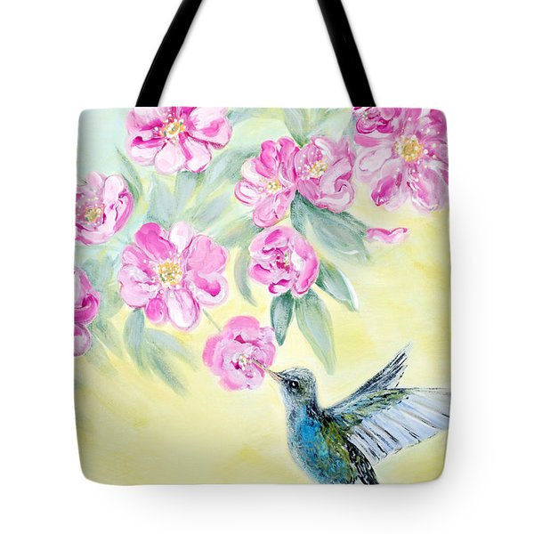 Morning In My Garden. Card Tote Bag
