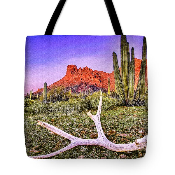 Morning In Organ Pipe Cactus National Monument Tote Bag by Bob and Nadine Johnston