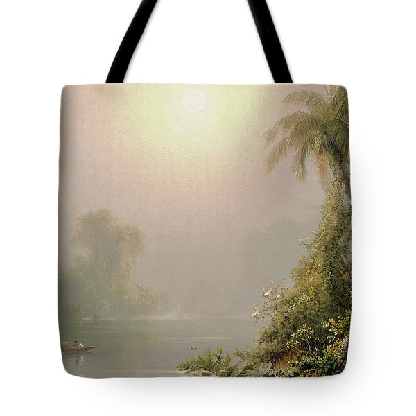 Morning In The Tropics Tote Bag by Frederic Edwin Church