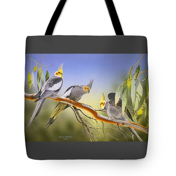 Morning Light - Cockatiels Tote Bag