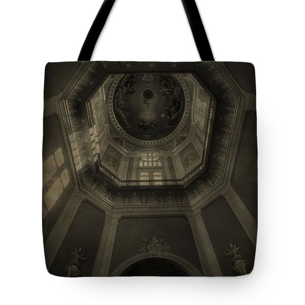 Morning Light On The Golden Dome Ceiling Tote Bag by Dan Sproul